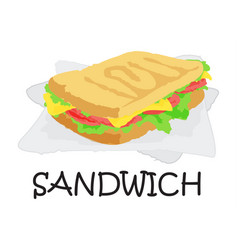 Sandwich sticker vector