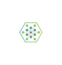 Science molecule logo template icon element vector