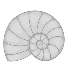 Sea shell icon gray monochrome style vector