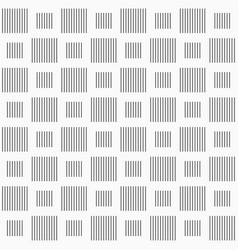 Seamless pattern of striped squares vertical lines vector