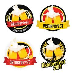 Set of oktoberfest labels badges menu elements vector