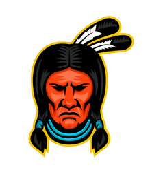 Sioux chief sports mascot vector