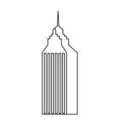 skyscraper building city business architecture vector image