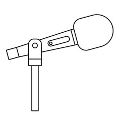 stage microphone icon outline style vector image