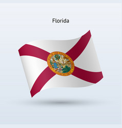 State florida flag waving form vector