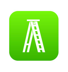 Stepladder icon digital green vector