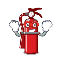 Super hero fire extinguisher character cartoon vector
