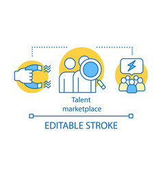 Talent marketplace source concept icon vector