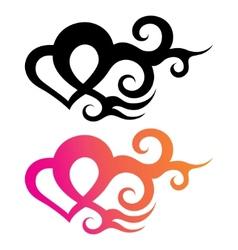 tattoo heart vector image