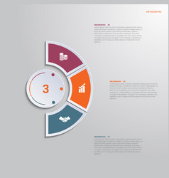 template infographic 3 positions for text area vector image