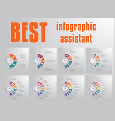 templates infographic for text area diagram vector image