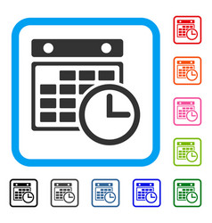 Timetable framed icon vector
