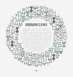 Underwear clothes concept in circle vector