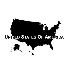 usa map silhouette vector image