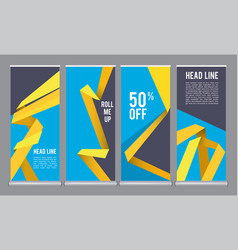 Vertical banners template mall roll up office vector