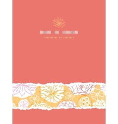 Warm day flowers vertical decor torn seamless vector image