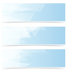 Web crystal blue headers footers collection vector image