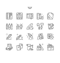 writing tools well-crafted pixel perfect vector image