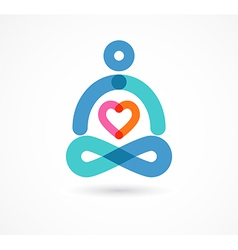 Yoga icon element and symbol vector