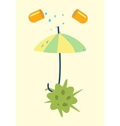 Antibiotics resistance umbrella concept vector