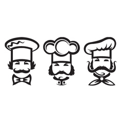 chefs set vector image vector image