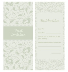 feastinvitation backdrop vector image vector image