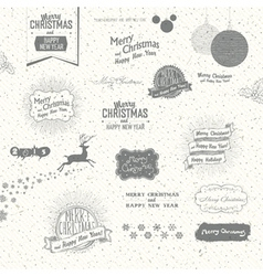 many christmas elements vector image vector image