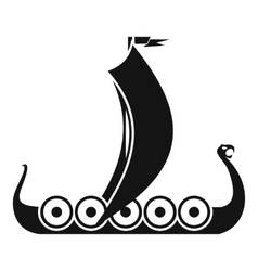 Medieval boat icon simple style vector image