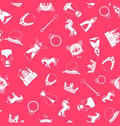 princess style cartoon pattern vector image vector image