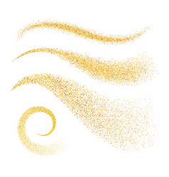 sparkle stardust golden glittering waves vector image