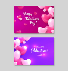 two gift certificates happy valentines day heart vector image vector image