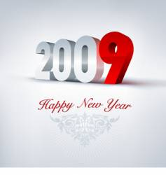 2009 greeting card vector image