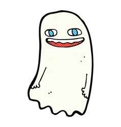 funny comic cartoon ghost vector image vector image