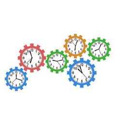 gear clock background vector image vector image