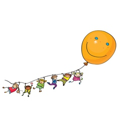 kids balloon vector image