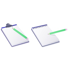 notepad notebook and pencil vector image
