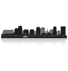 Orlando USA city skyline silhouette vector image vector image