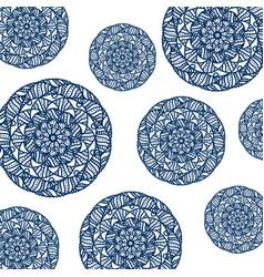 pattern of circular mandala vector image
