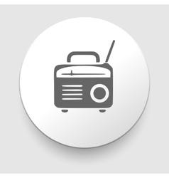 retro radio icon silhouette vector image