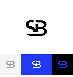 sb monogram logo from letters s and b vector image
