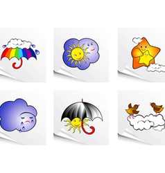 set of clouds vector image