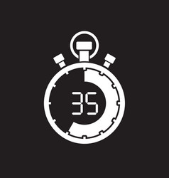 stopwatch thirty five minute vector image vector image