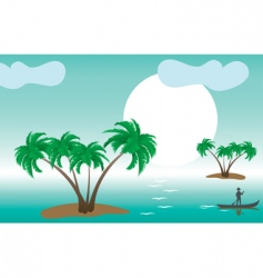 tropical palm islands vector image