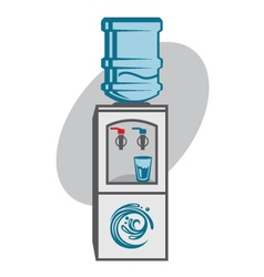 water cooler icon vector image vector image