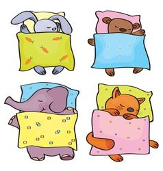 animals sleeping vector image