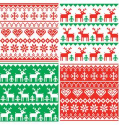 Christmas patttern set winter design vector