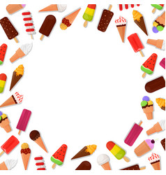 ice cream frame background vector image