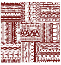 seamless tribal texture vector image vector image