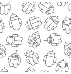 original robot droid seamless pattern vector image