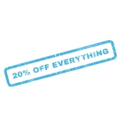 20 Percent Off Everything Rubber Stamp vector
